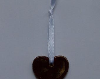 Curvy Clay Heart with Ribbon