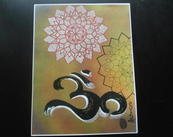 Geometrical Om 11x17 Prints