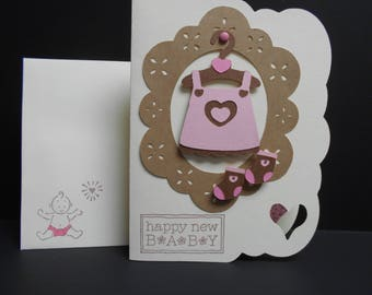 Baby Girl Outfit Card