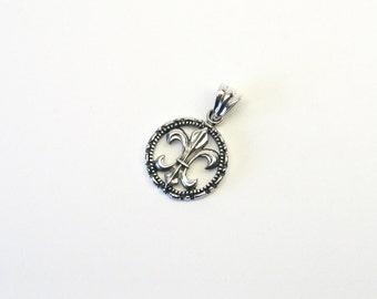 Lily pendant silver 925 lily fleur de lys