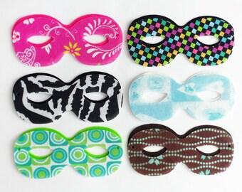 Felt Mask, Printed felt mask, super hero mask, Birthday Party, Favors Costumes, die cut felt shapes, felt supplies, mask
