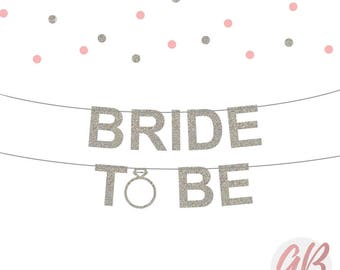 Bride to be banner | Bridal shower banner | Bachelorette party | Bachelorette banner | Glitter banner | Hen Party decoration | Wedding decor