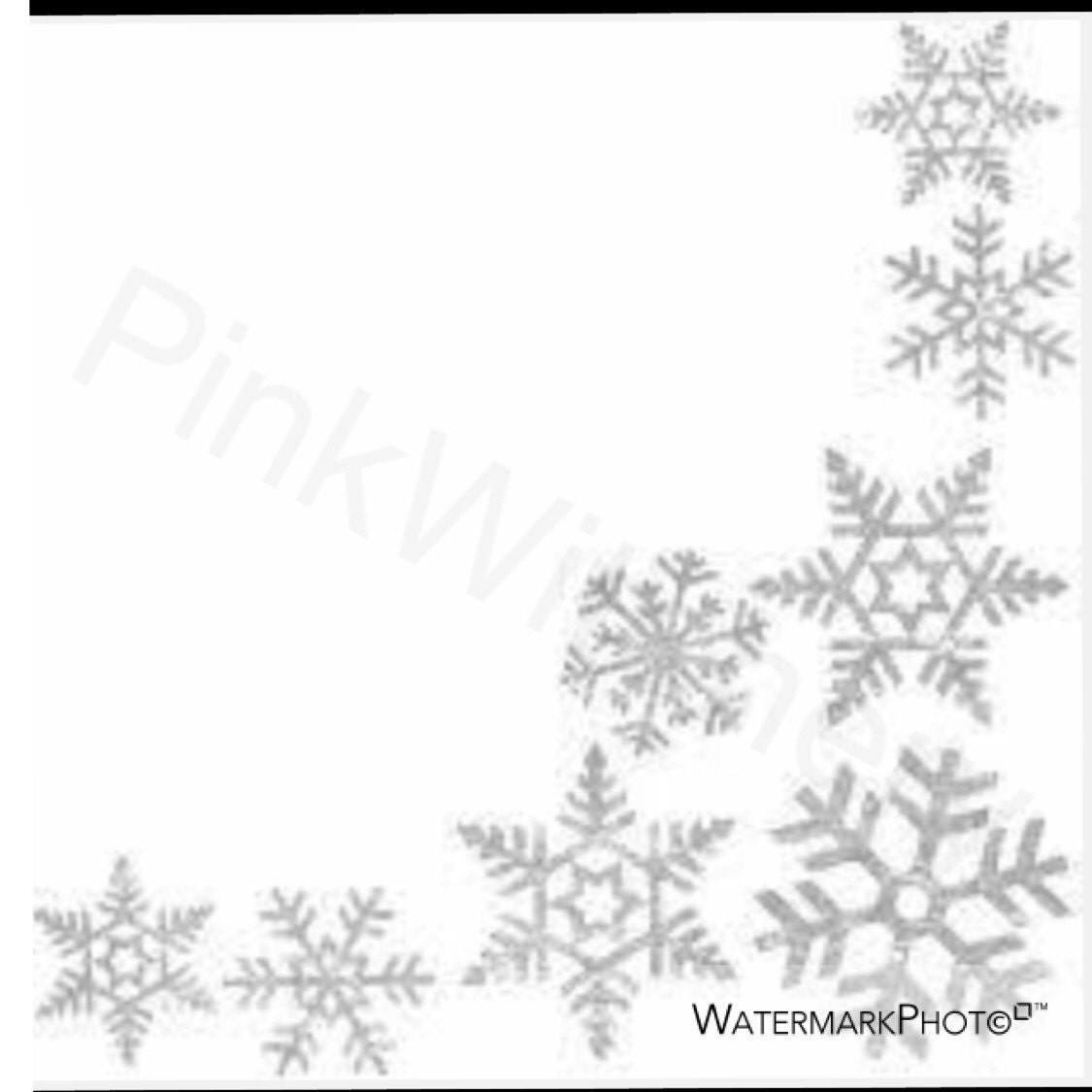 image is loading kraft white snowflakes watercolour watermark