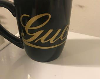 Gucci inspired  coffee mug, tea cup, 12 oz, gucci, fashion, style