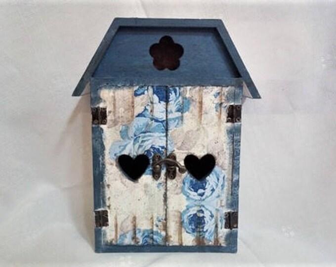 Wooden Key Holder, Key Organizer, Key Rack, Keys Holder, Wooden Box, Wall Decor, Home Decor, solid pine wood, decoupage, key cabinet