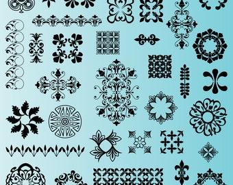 Embellishment Clip Art Clipart, Design Elements Clip Art Clipart - Commercial and Personal