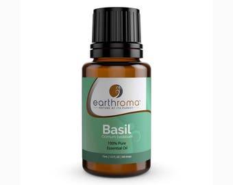 Basil Essential Oil 5 mL, 15 mL, 30 mL | 100% Pure Therapeutic Grade