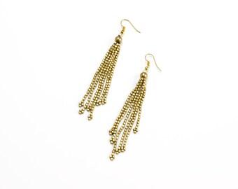 Seed Bead Earrings - Boho Style Dangle Earrings - Beaded Earrings - Boho Style Long Earrings - Elegant Bead Earrings - Gypsy Earrings