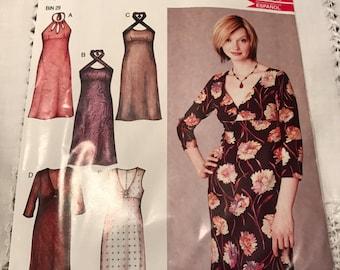 New Look 6199 Dress Pattern, Size 6 - 16 UNCUT
