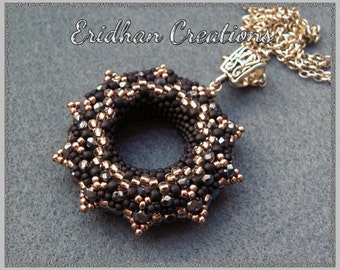 Beaded donut pendant no.4 - tutorial