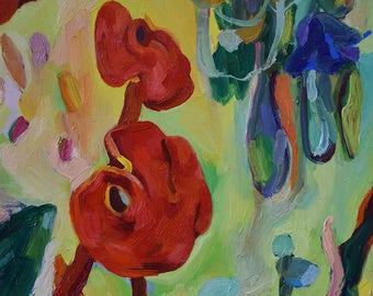 Oil on Canvas - Flowers