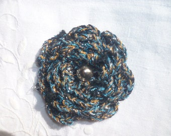 pretty flower crocheted wool with Irish style bead