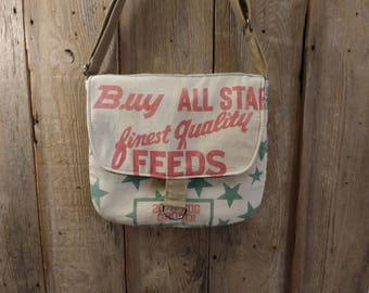 Vintage Buy All Star feed sack upcycled