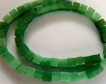 Green Aventurine gemstone 4mm cubes