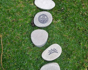 Fairy Garden Stepping Stones, Miniature Garden Stepping Stones, Fairy Garden Decor, Hi Friend