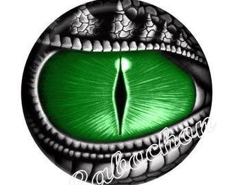 1 cabochon 25mm domed glass cabochon steampunk dragon eye image shown