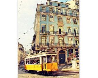 Wall Art, Lisbon Photography Print, Lisbon Streetcar, City Print, Fine Art Print, Bedroom Art, Lisbon Art, Portugal Print, Home Decor