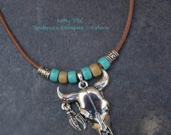 """Boho - boho necklace pendant Buffalo """" Aquene """""""