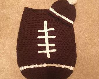 Football Baby Bunting Set