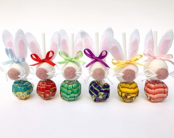 Easter Lollipops, Easter Basket, Easter Sunday, Bunny Lollipop, Easter Egg Hunt, Easter Gift, Bunny Favours, Easter Bunny, Edible Bunny.
