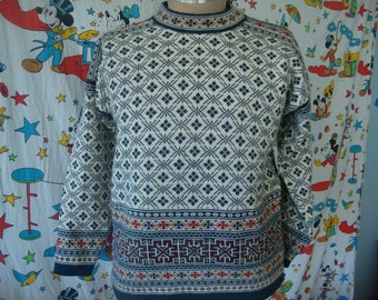Vintage Dale Of Norway Sport Wool Pullover Christmas Style Wool Sweater Size M