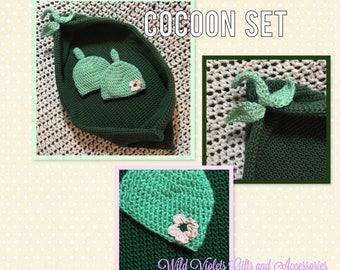 Sweet Peas Cuddle Cocoon Set