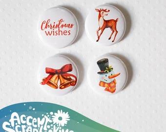 "Badge 1 ""- Christmas Wishes"