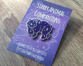 Starry Bear Companion Hard Enamel Pin