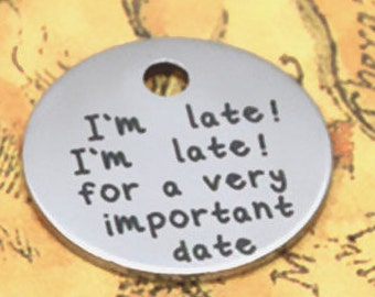 I am Late for a Very Important Date Charm