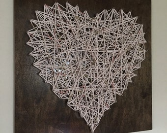 Wooden nail & string design