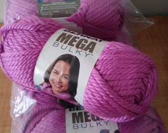 Bernat Mega Bulky yarn - 7 skeins available in Radiant Orchid