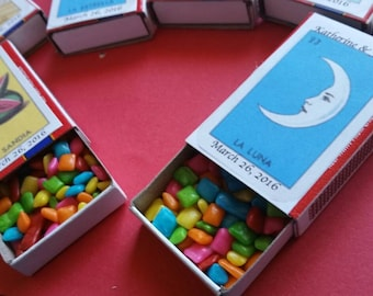 Loteria Match Box Favors Personalized