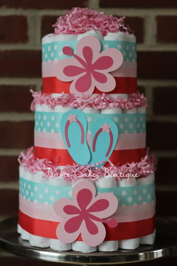 Luau Themed Baby Shower Cakes
