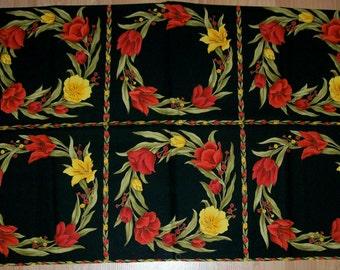 A Gorgeous Fete Des Fleurs Tulips Fabric Panel Free US Shipping