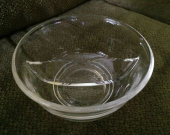 Clear Glass Divided Candy Bowl Dish