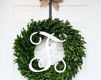 Preserved Boxwood Wreath - Boxwood Wreath - Mini Boxwood Wreath - Gifts for Her - Farmhouse Decor - Farmhouse Wreath - Boxwood Window Wreath