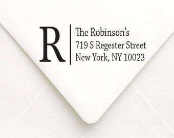Monogram Return Address Stamp, Self Inking Address Stamp, Personalized Return Address Stamp, Housewarming Gift
