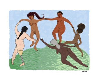Dance (I) by Matisse - Intersectional Inktober Version - Print - Hand-Illustrated