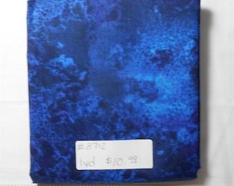 Fabric- 1 yard piece- Navy Blue/Purple Cosmos/Wilmington Prints/Essentials fabric line #3712