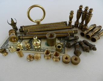 Solid Brass Findings- Robot Parts- Found Objects- Lamp Parts- Steam Punk- Junk Drawer