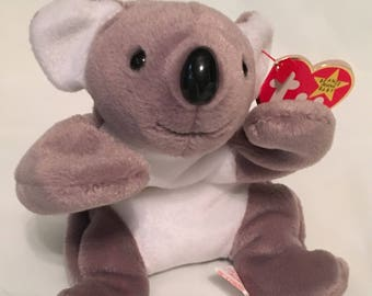 TY Beanie Baby - MEL the Koala Bear - Pristine with Mint Tags - PE Pellets - Retired