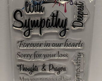 Sympathy Sentiments - A6 Clear Polymer Stamp set by Imagine Design Create
