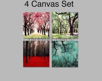 Nature Photography, 4 Seasons Wall Art, Canvas Wall Art, Four Seasons Art, 4 Seasons Tree, Four Seasons Wall Art