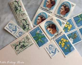 Women & Flora | Vintage Unused Postage Stamps | For 5 Letters | 50 Cents