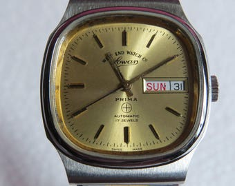 Vintage West End Watch Co automatic sovar prima watch- 17 jewels - model C 5032