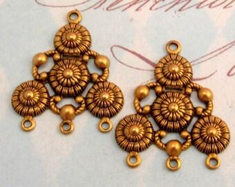 Bohemian Chandelier Connector, Antique Gold 2 Pc. K2