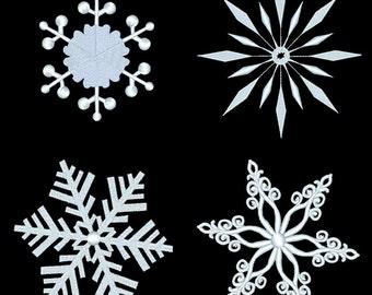 SNOWFLAKES (3inch) - 10 Machine Embroidery Designs Instant Download 4x4 hoop (AzEB)