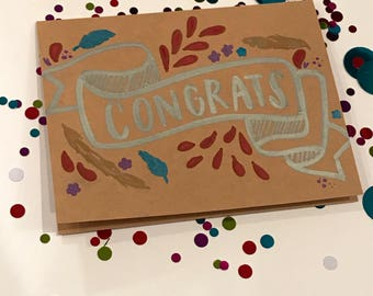 Congrats Hand Lettering Card