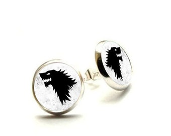 Game of Thrones earring - Winter is coming - House Stark Hypoallergenic Earrings