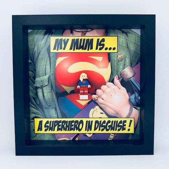 "Supergirl ""Superhero In Disguise"" Mum Minifigure Frame"